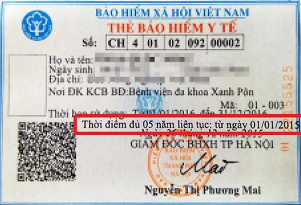 Quyền lợi của người có thẻ BHYT ghi thời điểm đủ 5 năm liên tục.